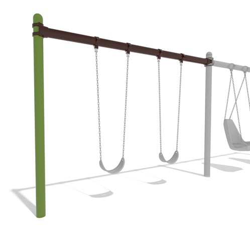 Single Post Swing Frame Additional Bay