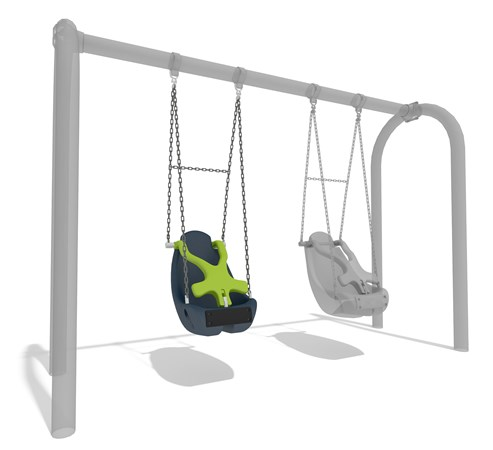 Molded Bucket Seat (2-5 yrs) w/Harness and w/Chains