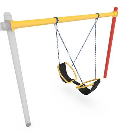 Friendship™ Swing with Single Post Swing Frame 52' Bury Additional Bay