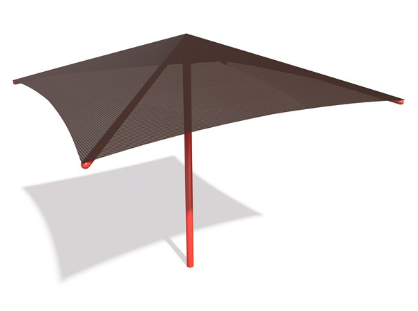 SkyWays® Single Post Pyramid (14'x14') Shade