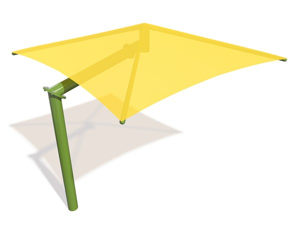 SkyWays® Cantilever Single Post Pyramid (14'x14') Shade