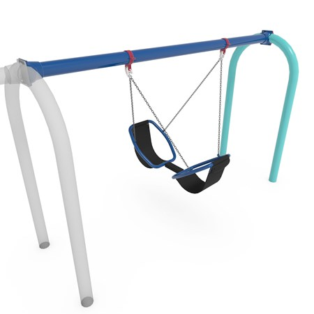 Friendship™ Swing with 5' Arch Tire Swing Frame Additional Bay