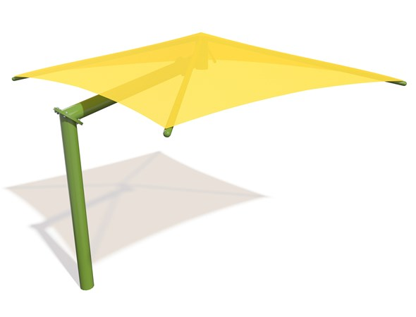 SkyWays® Cantilever Single Post Pyramid (10'x10') Shade