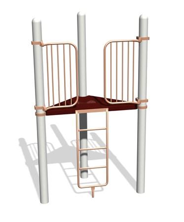 Vertical Ladder 90° Tri-Deck