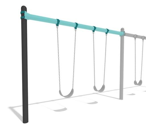 Single Post Swing Frame 52' Bury Additional Bay