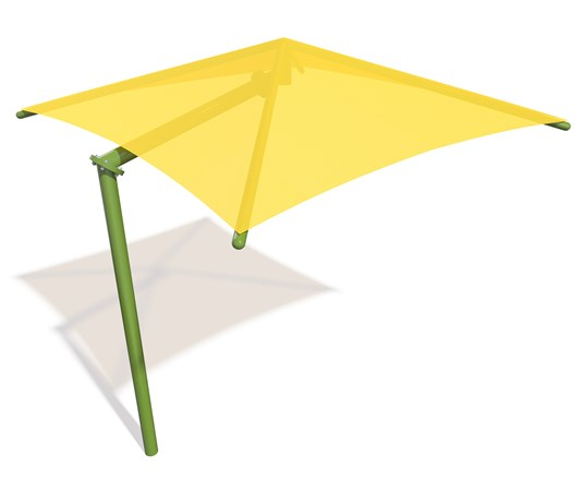 SkyWays® Cantilever Single Post Pyramid (12'x12') Shade