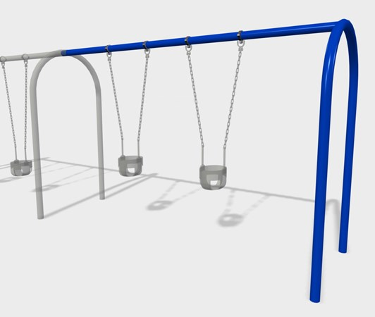 2' Arch Swing Frame Additional Bay Anti-Wrap Hangers